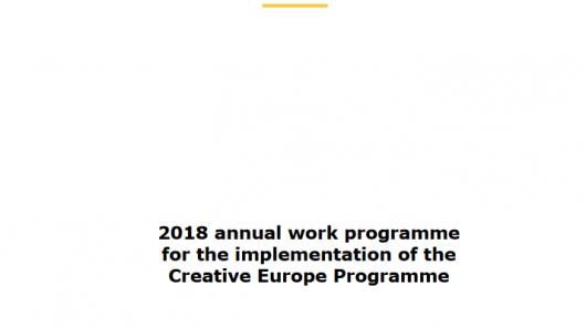 2018 Programa de Trabajo del Programa Europa Creativa