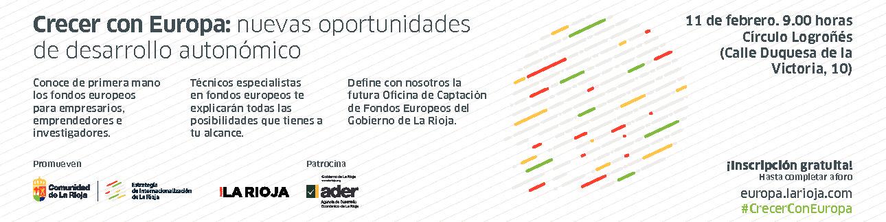 """Europa Creativa participa en Logroño en la jornada """"Crecer con Europa"""""""