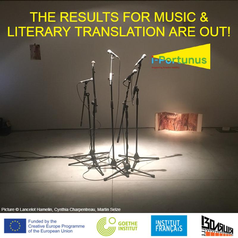 i-Portunus. Publicados los resultados de las convocatorias de traducción literaria y música 1