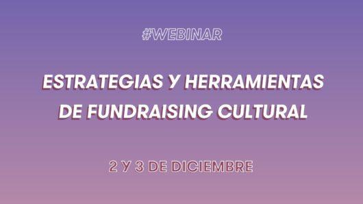 Webinar «Estrategias y herramientas de fundraising cultural». Segunda sesión